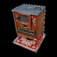 Печь камин на дровах с духовкой и стеклянной дверцей Турция