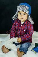 "Шапка и варежки для мальчика ""Дак"" ""Dembo house"", голубой, 44(44-48), 44 см"
