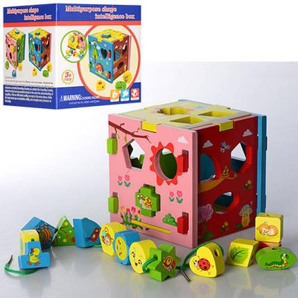 Деревянная игрушка Сортер MD 0921, фото 2