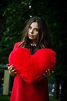 Плюшевое сердце сердечко 50см. (игрушка сердце, мягкая игрушка, подушка сердечко, подушка)