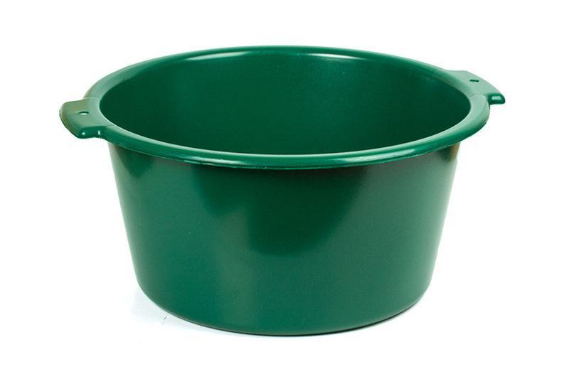 Таз пластиковый 20л хозяйственный (сорт 2), (цветной)
