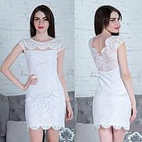 """Белое вечернее короткое платье """"Сопрано"""", фото 1"""