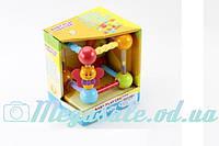"""Развивающая игрушка погремушка в ручку """"Куб"""""""