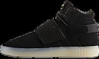 Кроссовки мужские в стиле  Adidas Tubular Invader код товара KD-11349 Материал замша,подошва резина. Черные