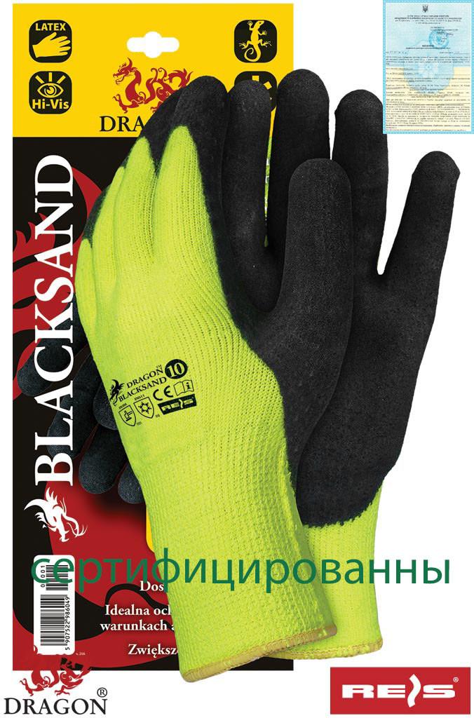 Защитные рукавицы утепленные, с покрытием BLACKSAND YB - Спецгруп Львів в Львове