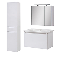 Комплект мебели для ванной комнаты Эльба 80 ТП-1 подвесной с зеркальным шкафом Юввис