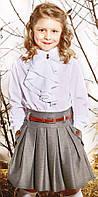 """Юбка школьная для девочки """"Аурели"""" (габардин с отливом) """"Suzie"""", Черный, 128(116-134), 128 см"""