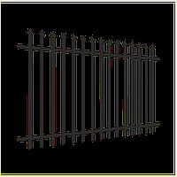 Металлические заборы с кованными элементами | Железные заборы сварные