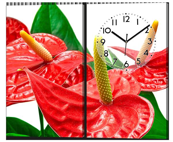 Модульная картина из двух частей Красные цветы