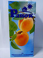 """Сок абрикосовый с мякотью 1л """"Ранок"""""""