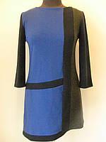 """Платье-туника """"Геометрия"""" из французского трикотажа ассиметричное, крой трапеция, размер L код 2891М"""