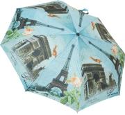 Женский складной зонт автомат (голубой), фото 1