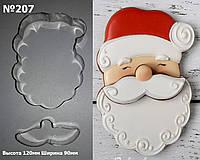 Высокопрочная Вырубка для пряника и печенья Санта с усами