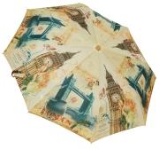 Женский складной зонт автомат (беж)