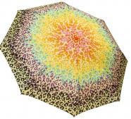 Женский складной зонт автомат (желтый)