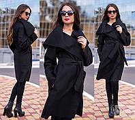 Женское кашемировое пальто. Черный