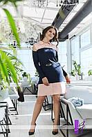 Женское платье с рубашечным воротником