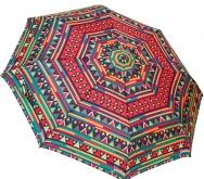 Женский складной зонт автомат (красный)