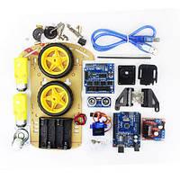 Роботизированный конструктор набор двухколёсный Car Kit для Arduino uno DIY Kit