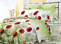 Двухспальное постельное белье Бязь Голд - Поляна тюльпанов