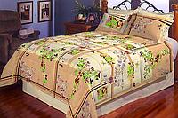 Двухспальное постельное белье Бязь Голд - Зерна кофе