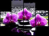 модульная картина Орхидеи 120*93 см