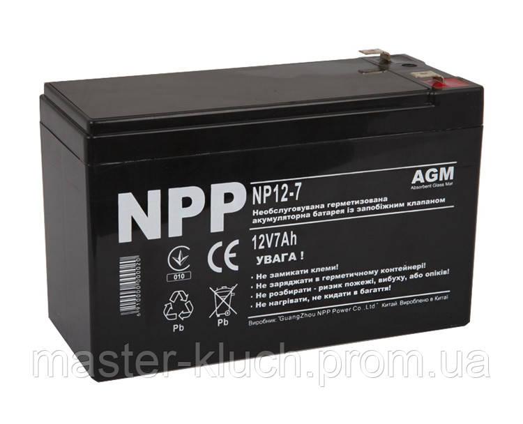 Аккумулятор NPP  NP12-7, 12В 7 Ач AGM