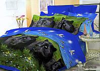 Двухспальное постельное белье София 3D - Пантера