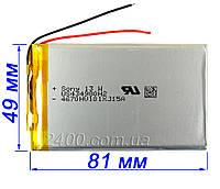 Аккумулятор 2500мАч 434980 мм 3,7в для планшетов, электронных книг 3.7v 4*49*81 мм (батарея 2500mAh)