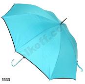 Женский зонт трость (голубой)