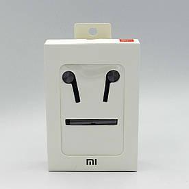 Гарнитура наушники XIAOMI MI 7 QTER01JY с микрофоном, кнопкой ответа и регулятором громкости, ОРИГИНАЛ, Черная