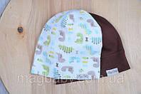 Набор трикотажных шапок, Дино (42-46 (6-12 мес.);46-50 (1-2 года);50-54 (от 2 лет)., фото 1