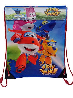 Детская сумка для сменной обуви SUPER WINGS