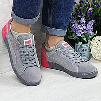 Женские кроссовки 4537 Puma замшевые комбинированные