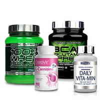 Scitec Nutrition Whey Isolate | BCAA+Glutamine Xpress | Ostrovit L-Carnitine 1000 | Daily Vita-Min
