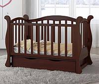 Детская кроватка Angelo №6 орех темный