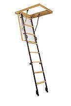 Металлическая чердачная лестница 90*70 р20h280