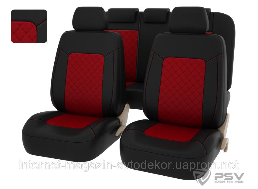 Чехлы на сиденья PSV Elegant Next качественная экокожа разные цвета.