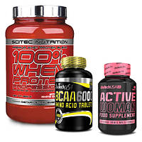 Scitec Nutrition Whey Protein Professional |BioTech BCAA 6000 |BioTech Active Woman