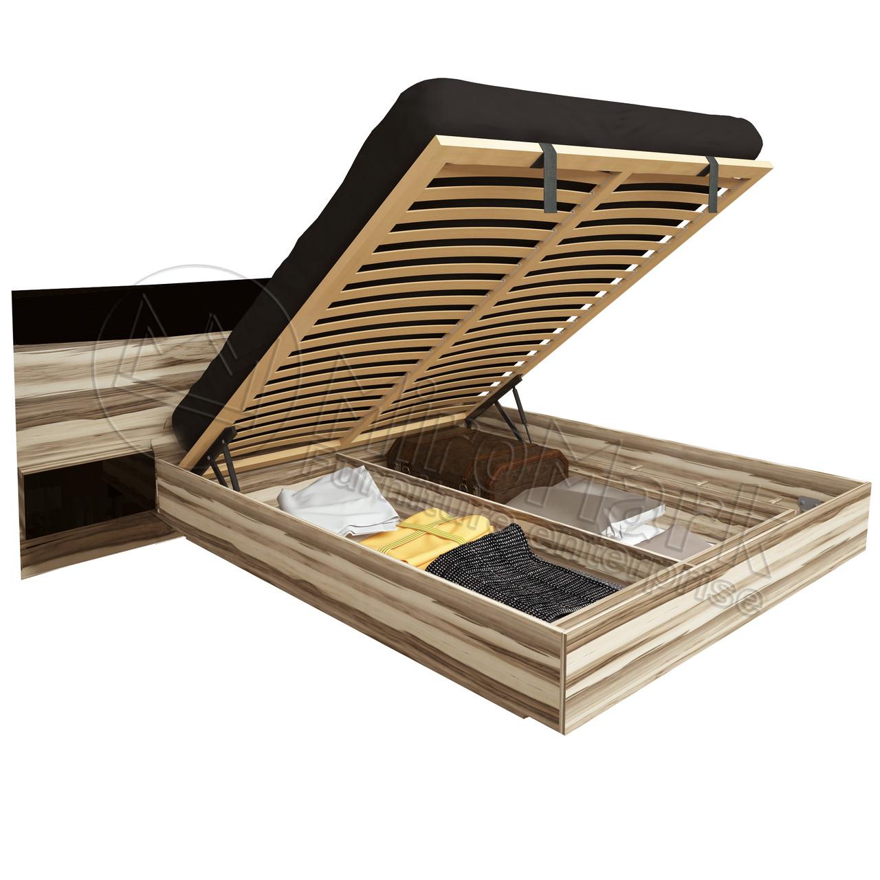 Кровать «Соната» 1,6 с тумбами с подъемником.Миро Марк.