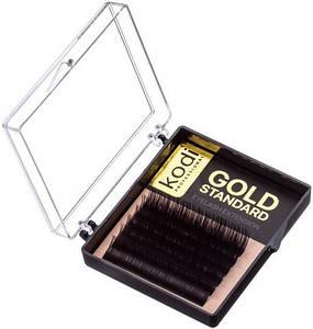 Ресницы для наращивания Kodi Professional Gold, В-0.03 (6 рядов: 11 мм.)