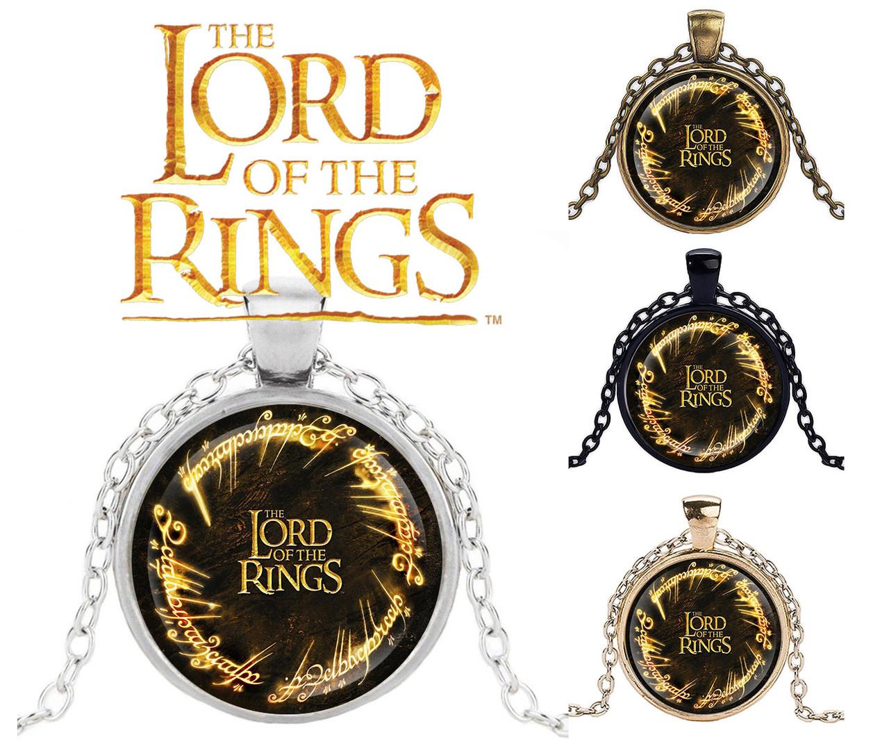 Подвеска стеклянная Властелин колец Lord of the Rings с логотипом