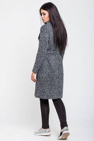 Пальто жіноче Варшава темно-сірий меланж 42 44 46 48 напівовна 529f2fefa0d3a