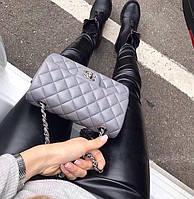 Женские стильные кожаные лосины