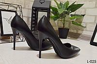 Туфли лодочки женские лодочки черные на высоком каблуке, женская обувь