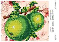 """Схема для частичной вышивки бисером """"Зеленые яблоки"""""""