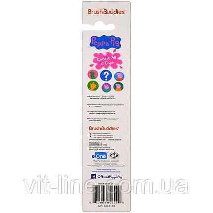 Brush Buddies, Свинка Пеппа с крышечкой, Мягкая, 1 зубная щетка, фото 2