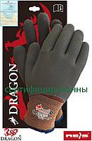 Перчатки рабочие утепленные со специальным покрытием Dragon Reis Польша WINFULL3 BRS