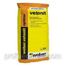 Клей для плитки Weber.vetonit optima 25кг