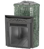 Дровяная печь Ферингер Ламель Макси облицовка Змеевик камень открытая каменка